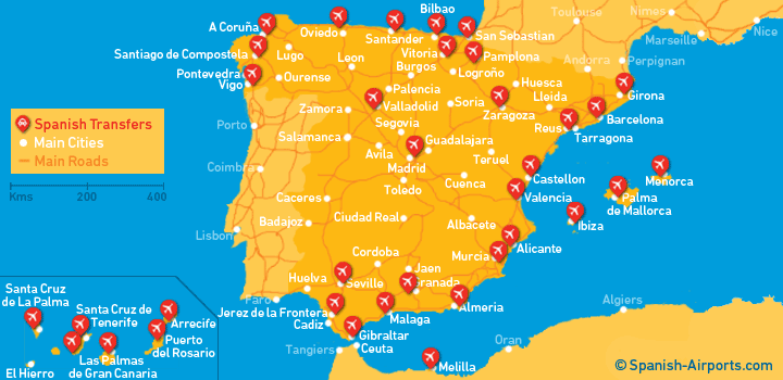airports in spain
